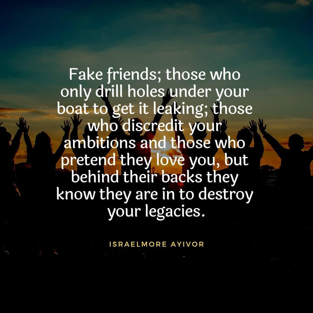42 Drifting Mind Blowing Fake Friends Quotes - Picss Mine